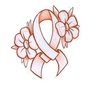 flowers and ribbon cancer tattoo design. Black Bedroom Furniture Sets. Home Design Ideas