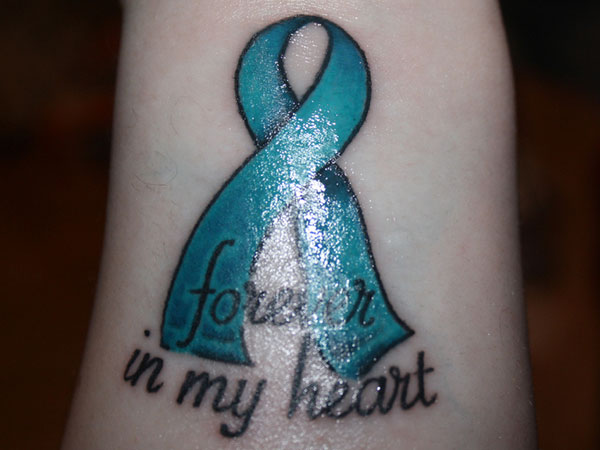Cancer tattoos page 34 for Heart ribbon tattoo