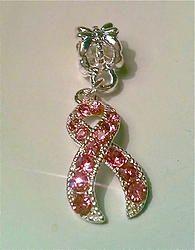 Glitter Breast Cancer Tattoo Design