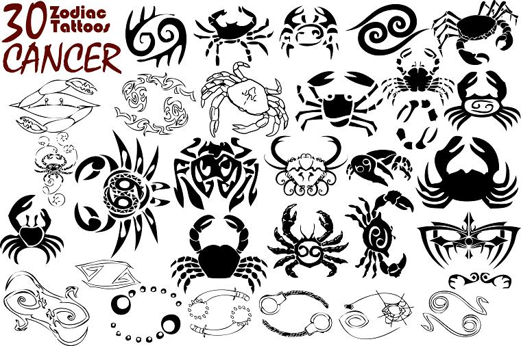Latest Cancer Zodiac Tattoos Designs