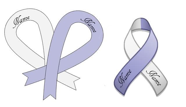 Ribbon Cancer Tattoos Designs