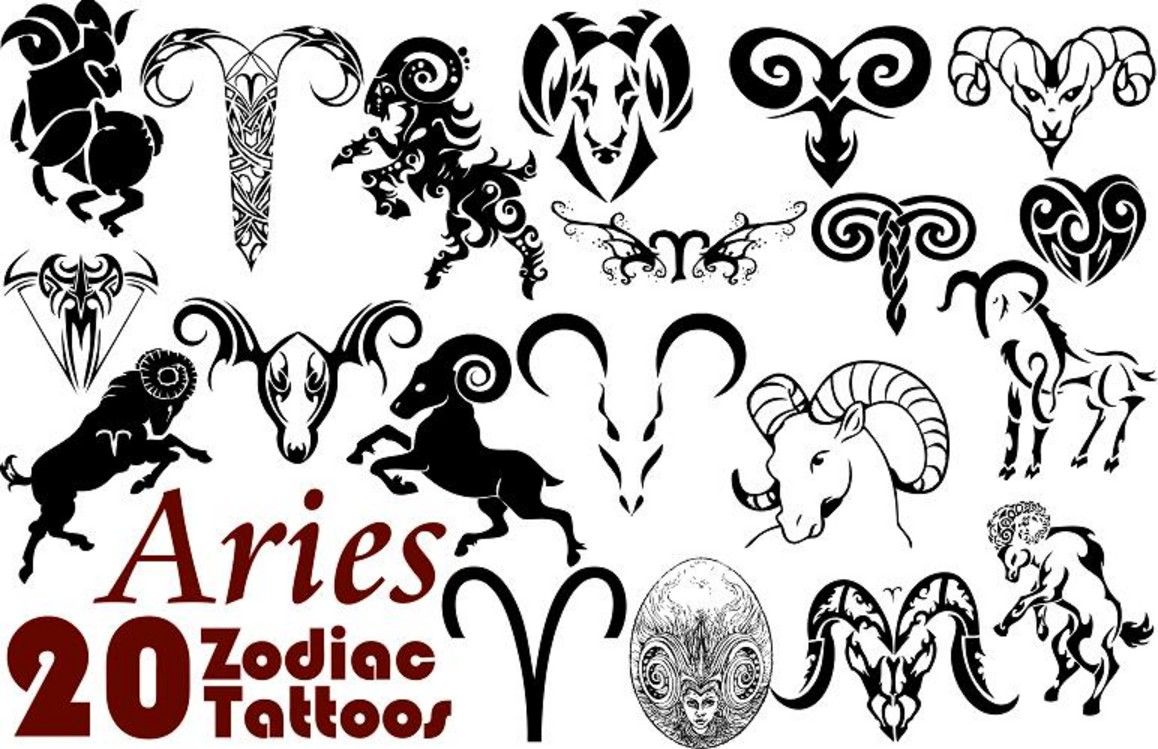 Aries Zodiac Tattoo Designs