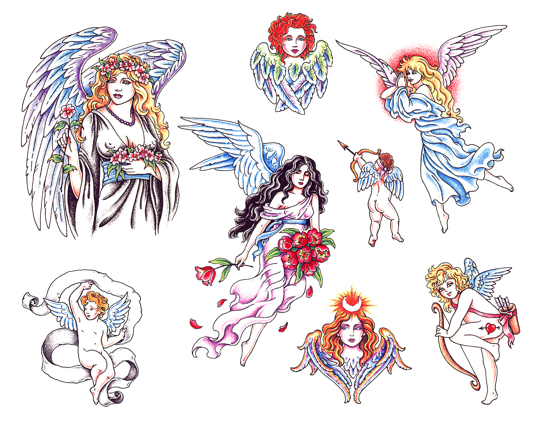 Gothic Fairies Tattoos Designs