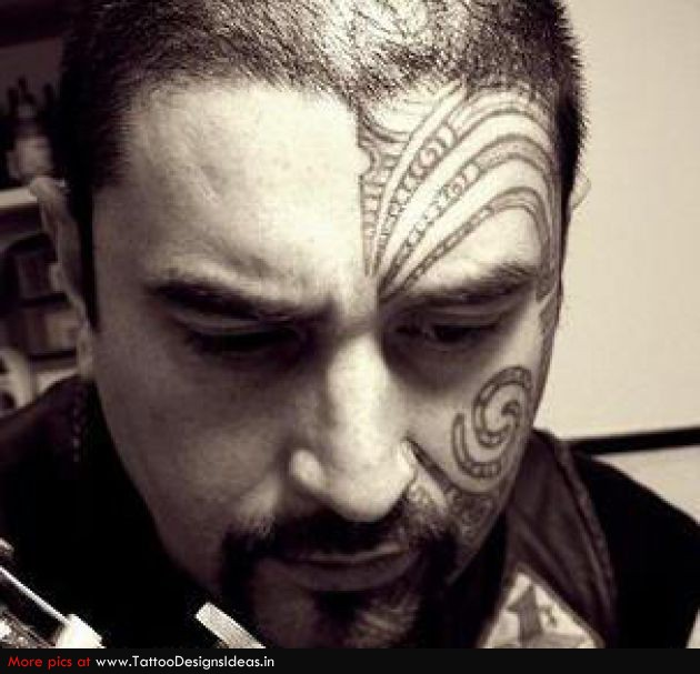 Maori Tribal Face Tattoo: Face Tattoo Images & Designs