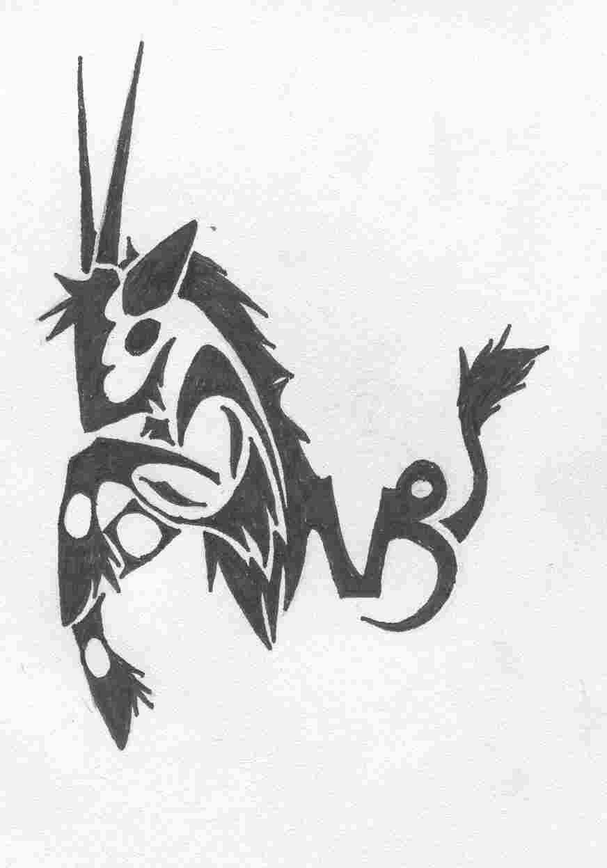 Capricorn tattoo images designs for Black tribal tattoo ink