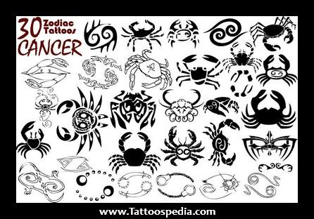 Cancer Zodiac Tattoo Designs