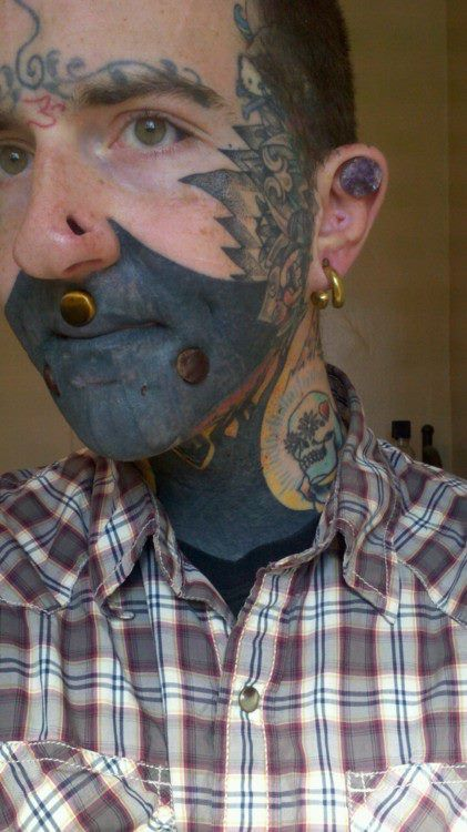 31767c1e0 Dark Ink Face Tattoo For Men
