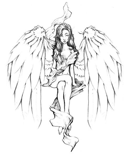 Pics Photos Fairy Tattoo Design Stencil