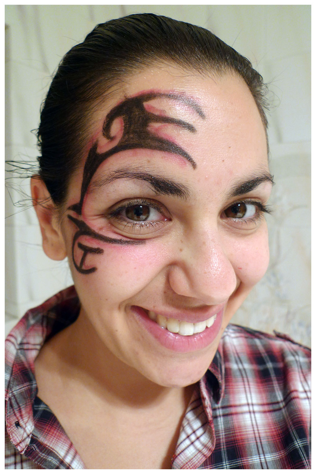 Face tattoos female images