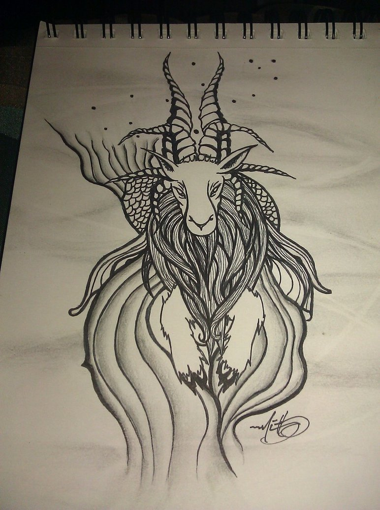 Capricorn tattoo images designs for Capricorn goat tattoo