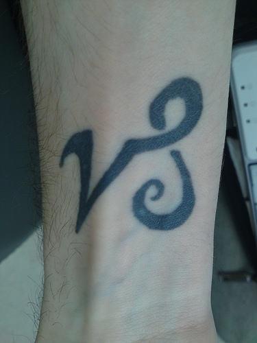 Zodiac Capricorn Symbol Tattoo On Arm