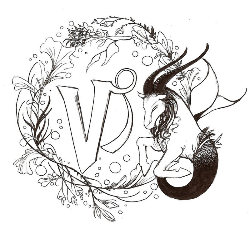 Zodiac Capricorn Tattoo Design