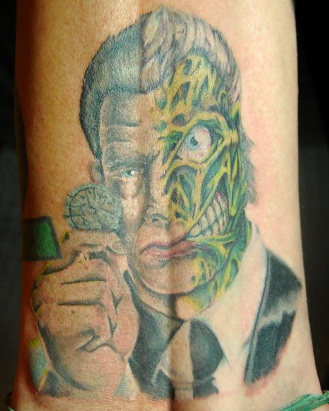 Zombie Face Tattoo