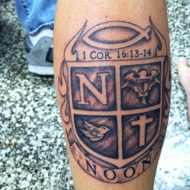 Calf Family Crest Tattoo