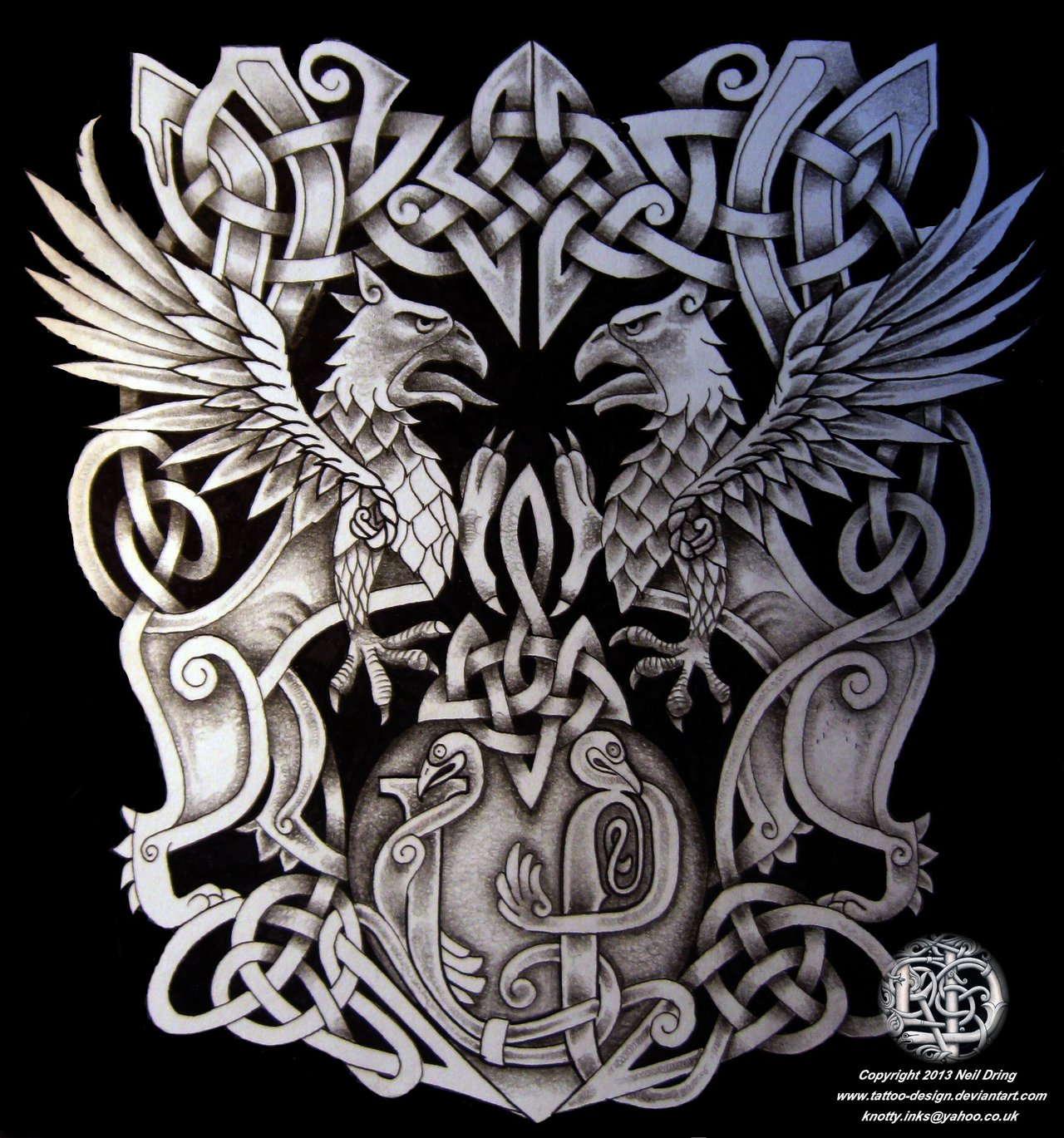Campbell Clan Heraldic Celtic Family Crest Tattoo
