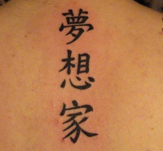 Chinese Symbols Faith Tattoo