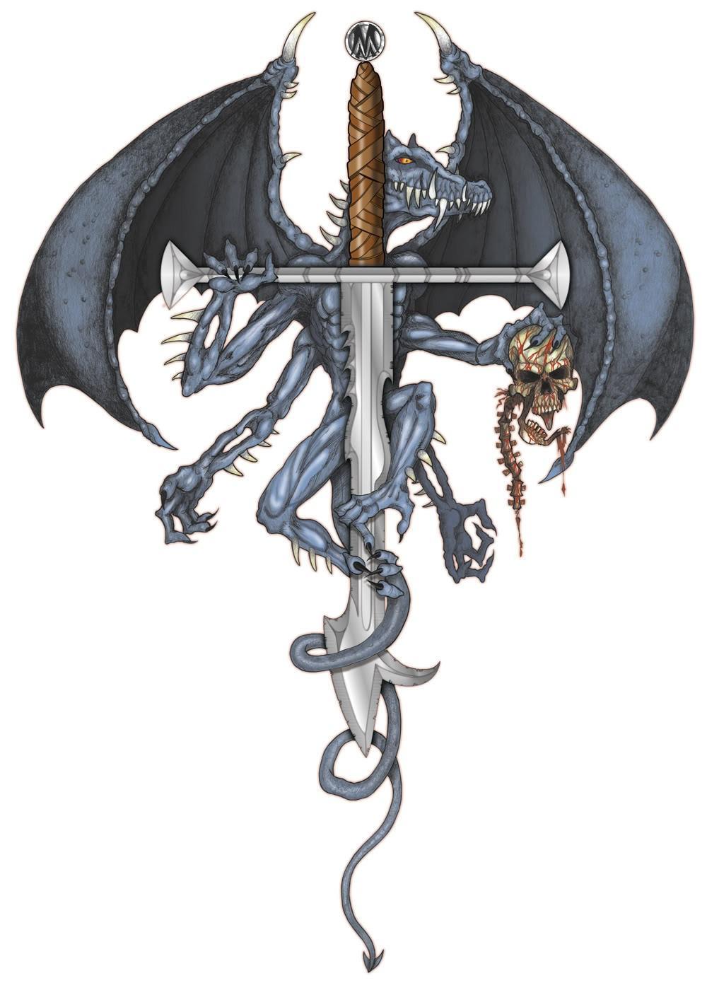 Fantasy dagger designs dragon with dagger fantasy