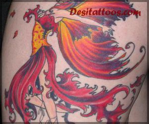 Fairy Tattoo On Side