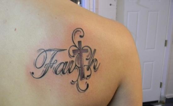 Faith tattoo images designs for Faith cross tattoos