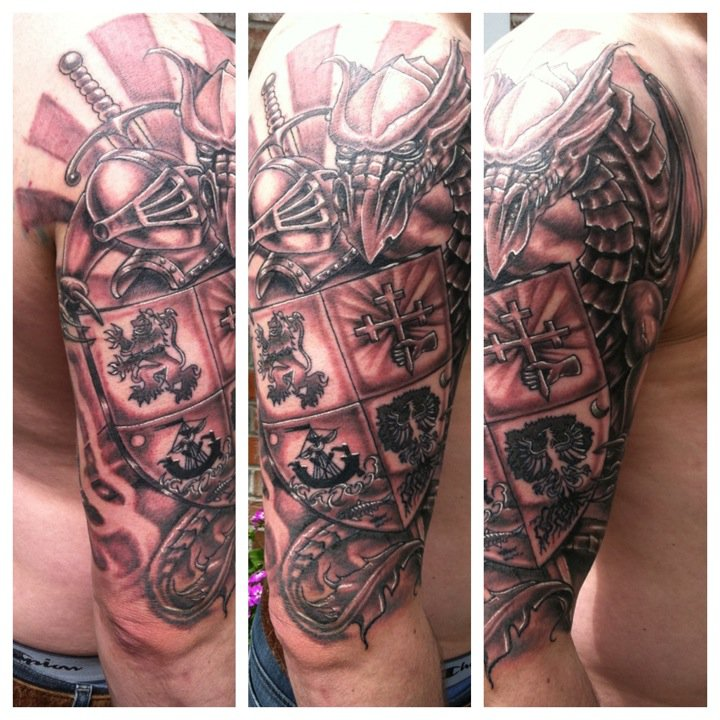 english coat of arms tattoo - photo #35