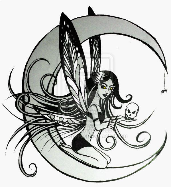 Dark Fairies Drawings Dark Fairy