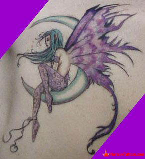 159f1931c Moon And Gothic Fairy Tattoo