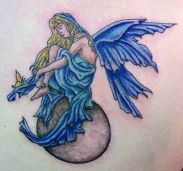 New Colored Fairy Tattoo