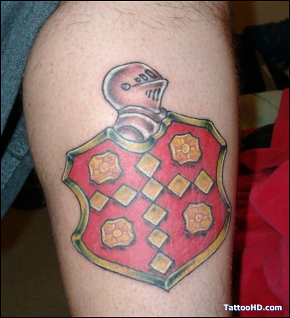 Calf Family Crest Tattoo