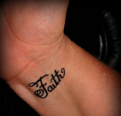 Faith tattoo images designs for Back of wrist tattoo