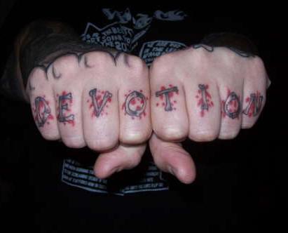 Finger Tattoo Words