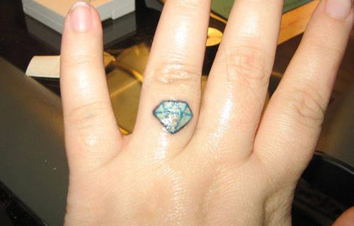 diamond ring finger tattoo. Black Bedroom Furniture Sets. Home Design Ideas