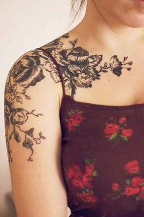 Feminine tattoo images designs for Feminine collar bone tattoos