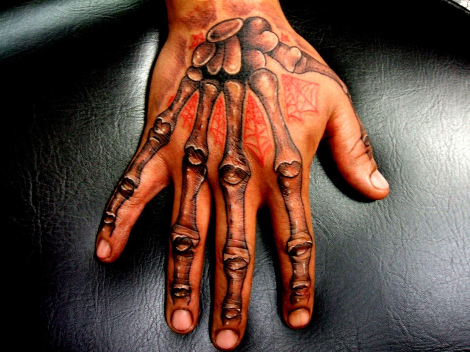 81bfba6a5 Grey Ink Hand Skeleton Finger Tattoos