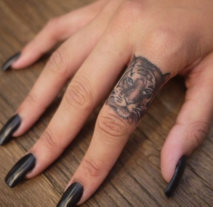 Flower Finger Tattoo Images & Pictures - Becuo
