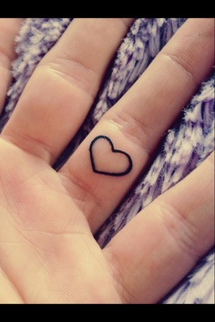 Heart Tattoo On Ring Finger