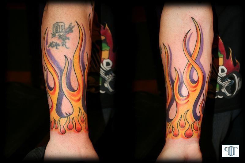 Forearm Flame Tattoo Pictures Free Editing Photo Website