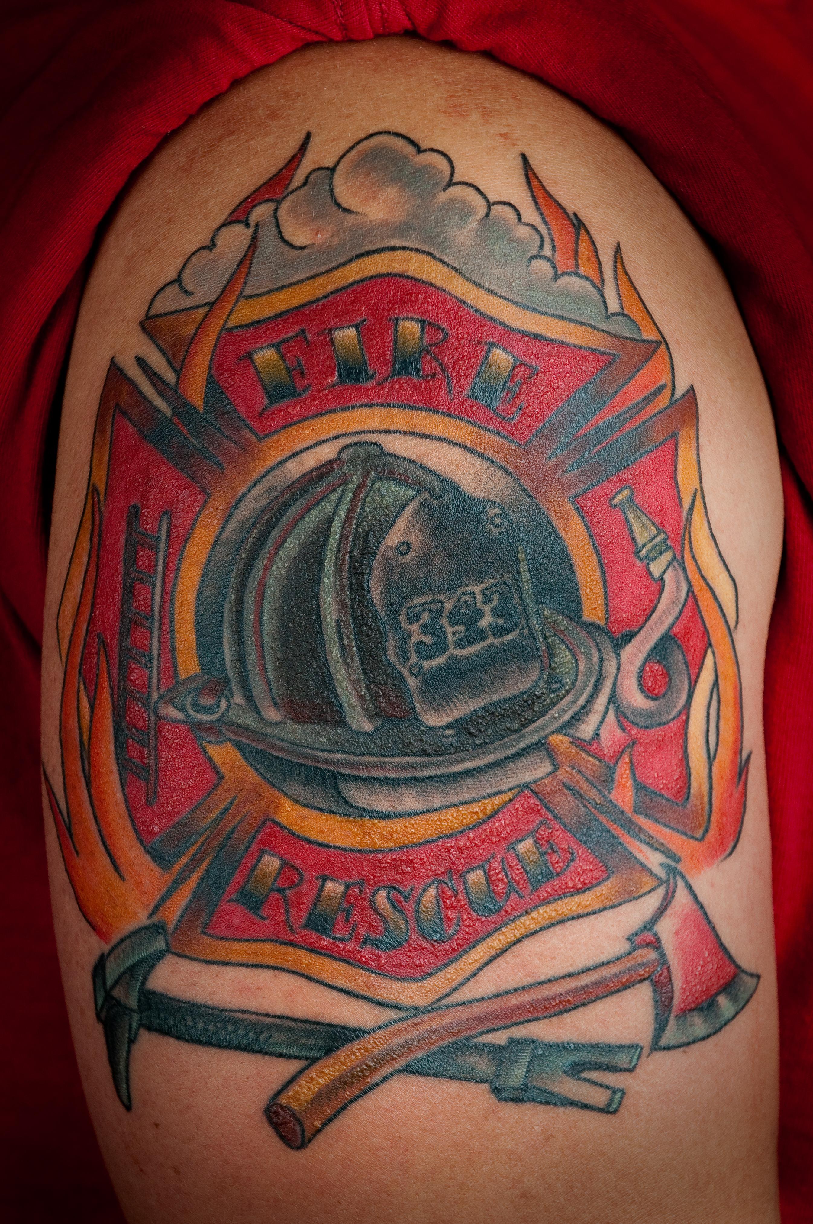 Firefighter Tattoo Designs: Firefighter Tattoo Images & Designs