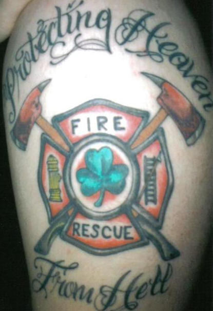 Firefighter Tattoo Images Amp Designs