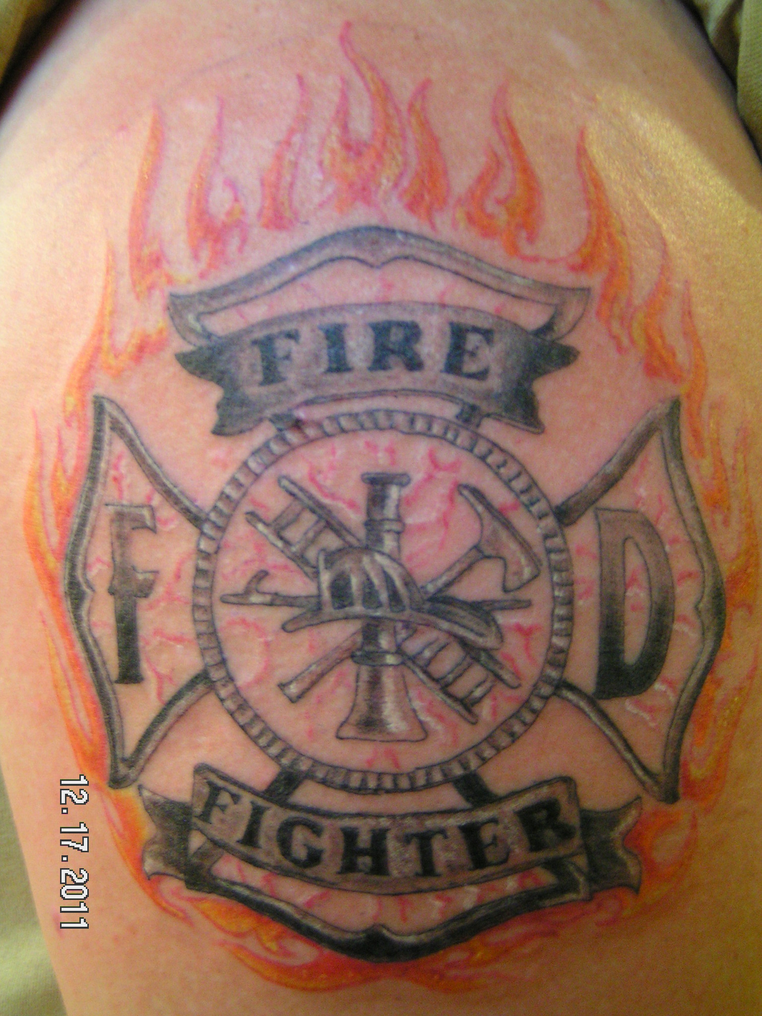Pin army fire fighter tattoo on musclesjpg on pinterest