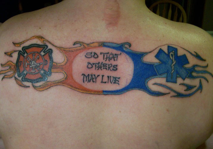 Best Upperback Firefighter Tattoo