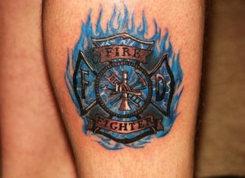 firefighter tattoo images designs. Black Bedroom Furniture Sets. Home Design Ideas