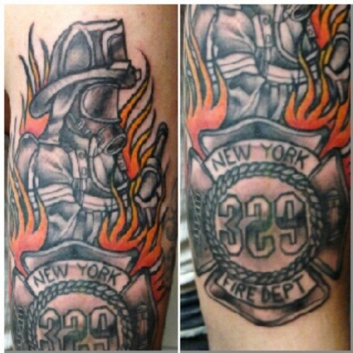 Top fire fighter flowers tattoo tattoo s in lists for pinterest