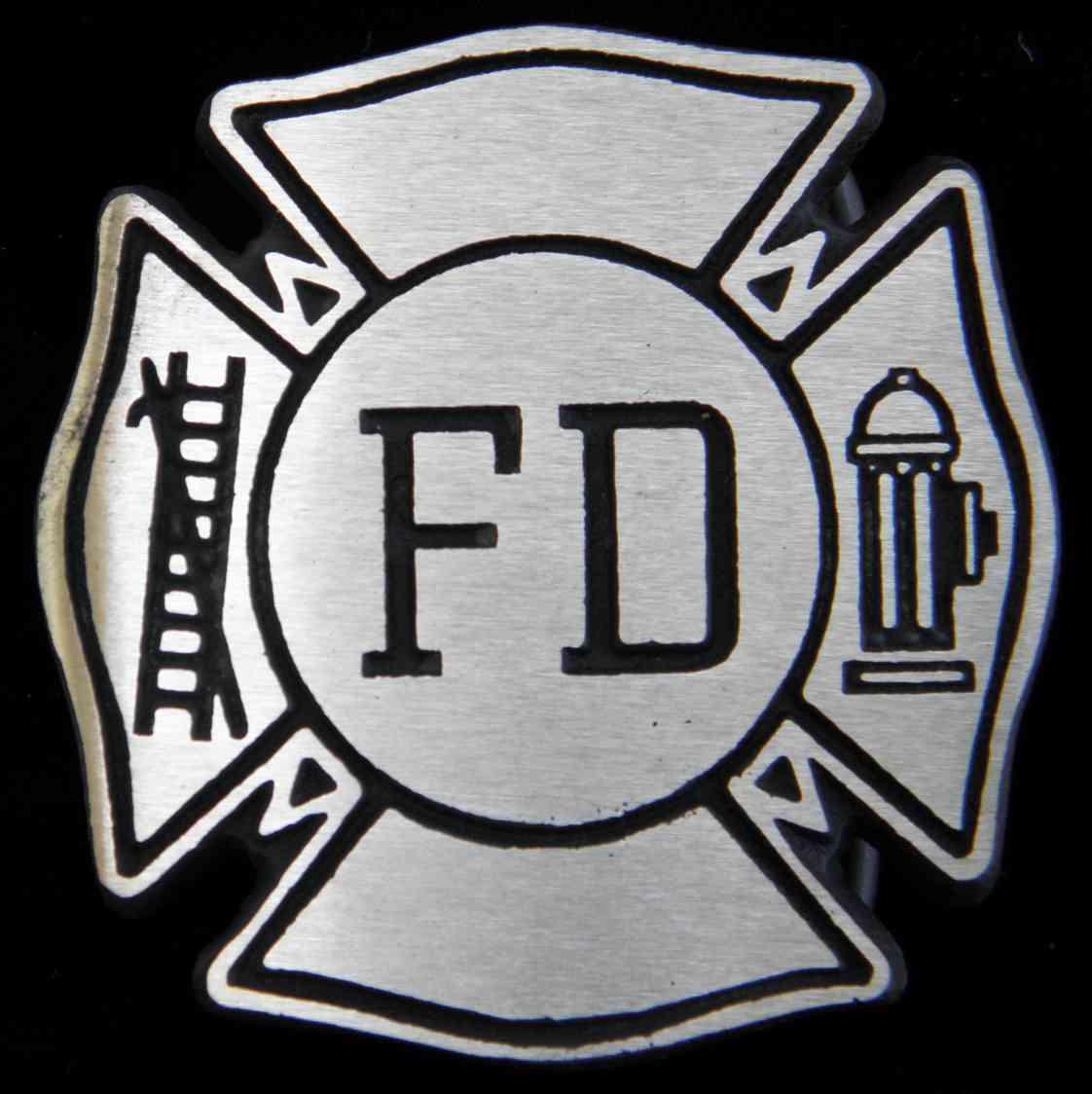 Ripped Skin Firefighter Logo Tattoo Design