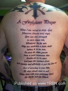 Firefighter Prayer Tattoo