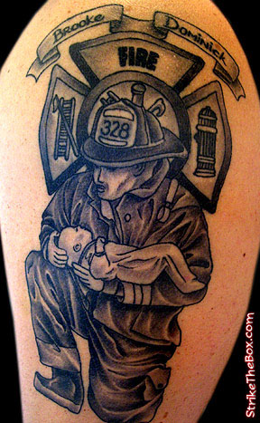 Firefighter tattoos designs ideas page 20 for Firefighter sleeve tattoo