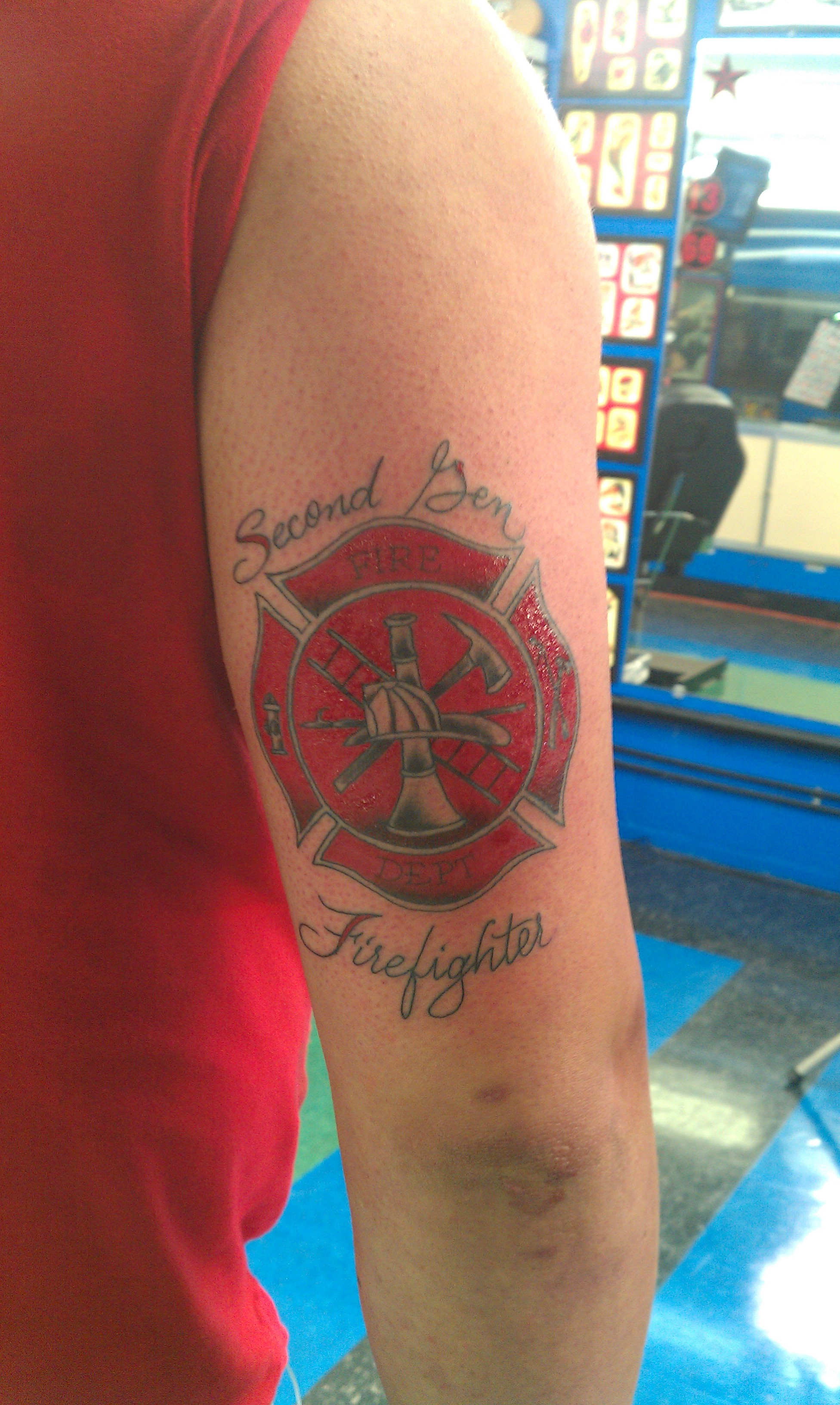 Firefighter Tattoo Images Designs