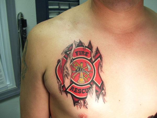 tribal scuba designs tattoo : 6 Page Tattoos Firefighter