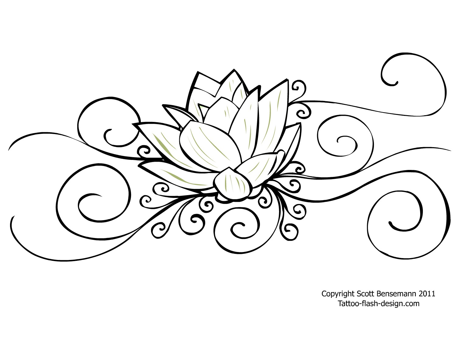 Outline flower tattoo design awesome outline flower tattoo design mightylinksfo