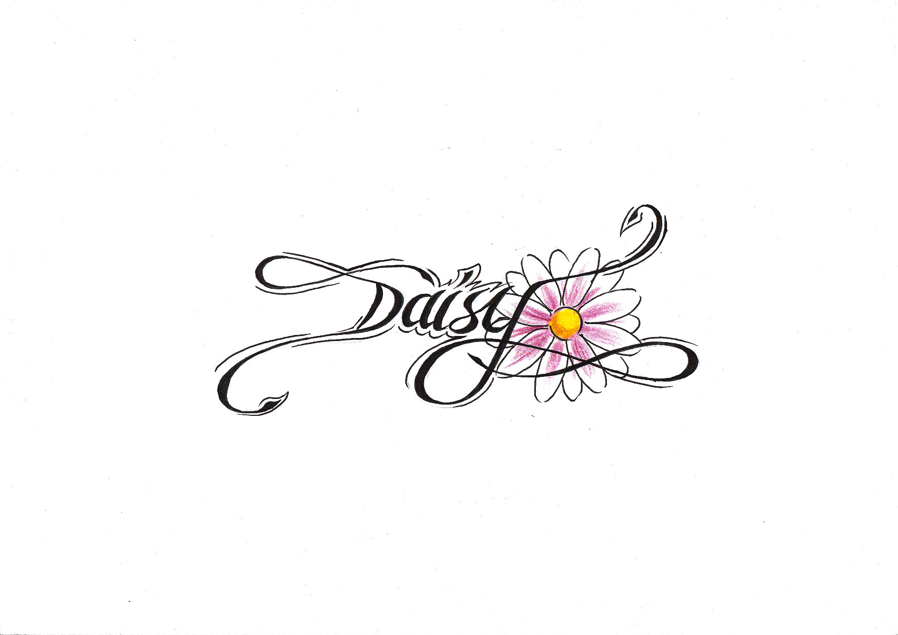 Daisy flower tattoo design izmirmasajfo Image collections