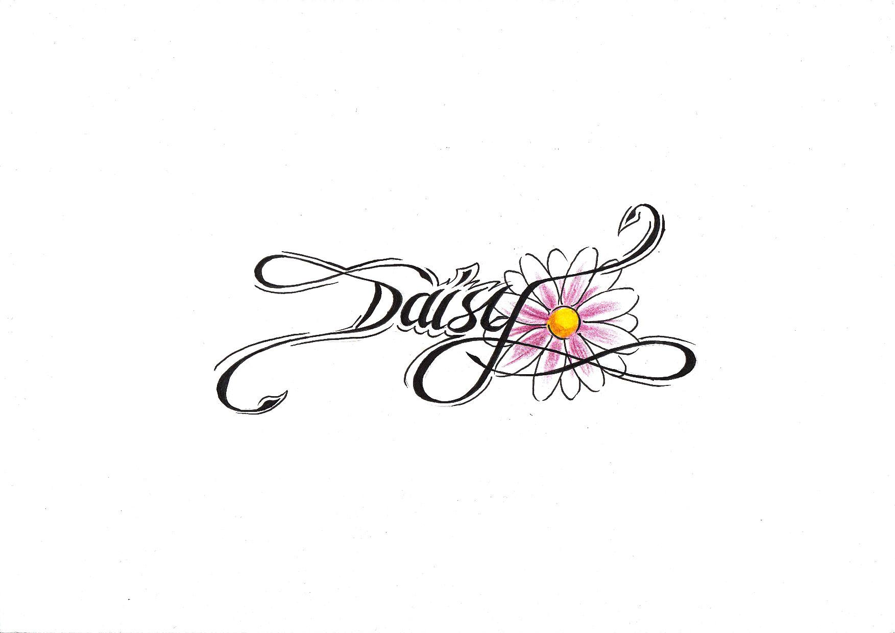 Daisy Flower Tattoo Design